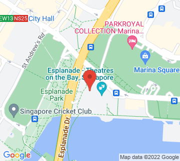 Map showing Esplanade - Outdoor Theatre